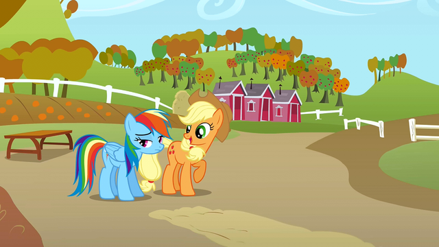 File:Applejack challenging Rainbow Dash S1E13.png
