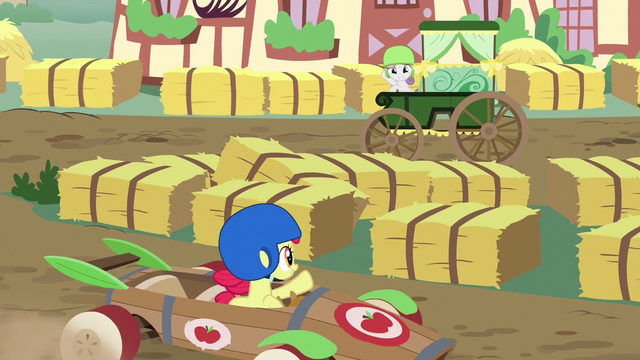 File:Sweetie and Apple Bloom wave to each other S6E14.png