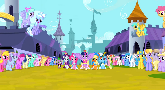 File:Twilight Sparkle trotting alongside her friends 2.png