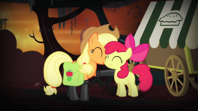 File:Applejack and Apple Bloom reconciled S4E17.png