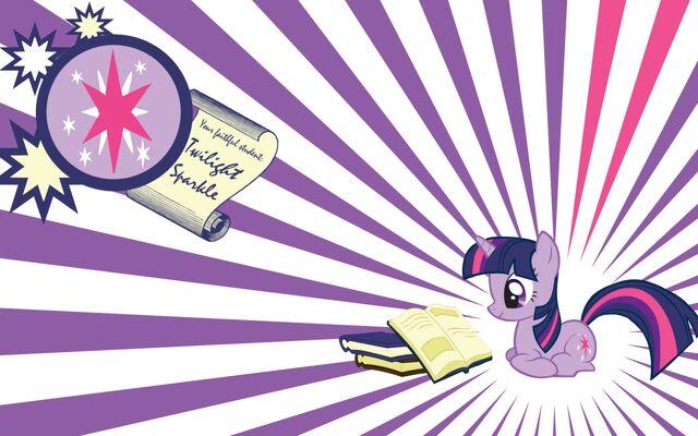 File:FANMADE Twilight Sparkle books wallpaper.jpg
