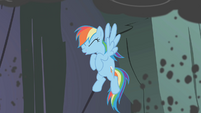 Rainbow Dash coughing smoke S1E07