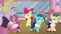 Dance students walk away from Apple Bloom S6E4