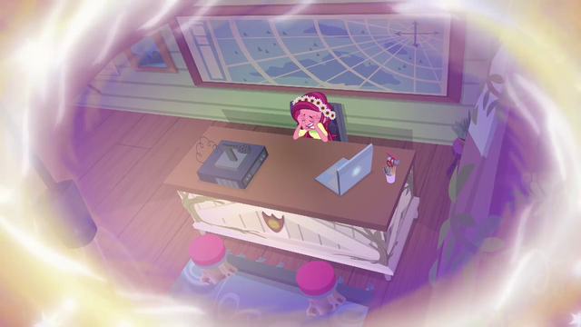 File:Gloriosa Daisy crying at her office desk EG4.png