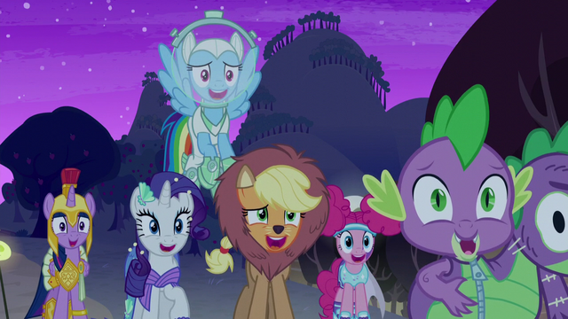 File:Main cast laughing at Granny Smith S5E21.png