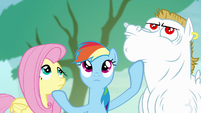 Rainbow wants Bulk and Fluttershy to look up S4E10