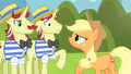 Applejack confronting Flim and Flam S4E20.png