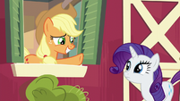 Applejack smiling nervously S6E10