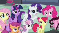 Rarity asking what happened S6E7