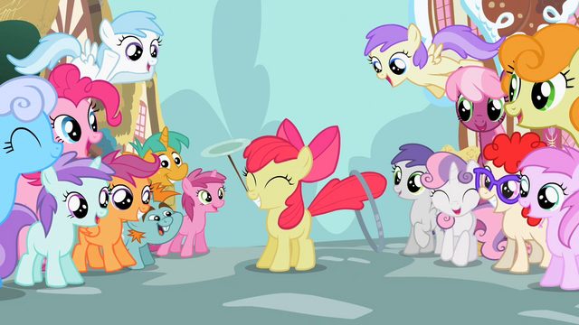 File:The ponies admire Apple Bloom S2E06.png
