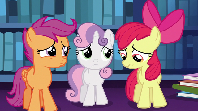 File:Cutie Mark Crusaders pouting with worry S6E19.png