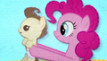 Pinkie Pie holding up Pound Cake BFHHS2.png