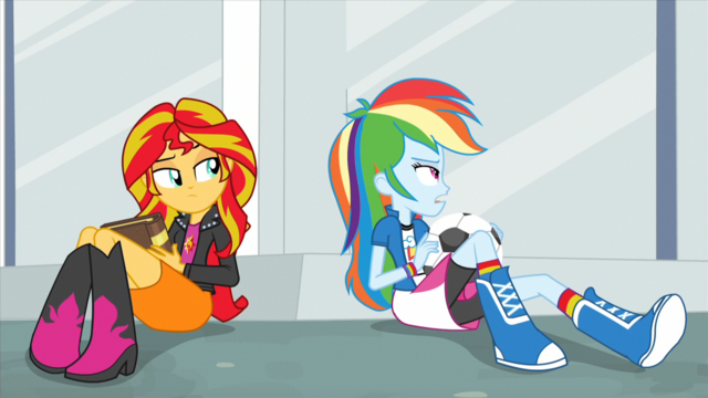 "File:Rainbow Dash ""she's not coming"" EG2.png"