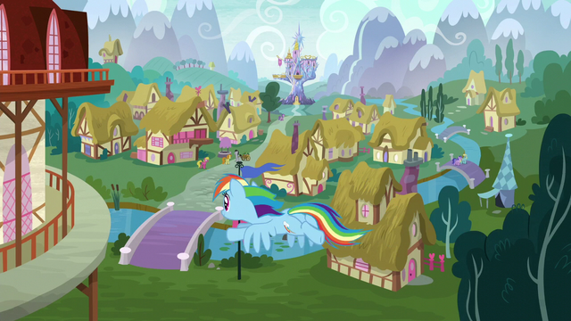 File:Rainbow Dash flying into town S6E7.png
