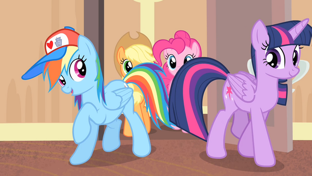 File:Rainbow and Twilight enters the room S4E08.png