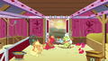Apple family laughing together in the barn S6E23.png