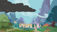Smoke approaches Ponyville S01E07