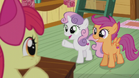 "Sweetie Belle ""can't wait to see who we're gonna help next!"" S5E18"