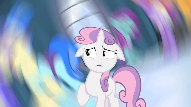 File:Sweetie Belle in a spiraling nightmare S4E19.png