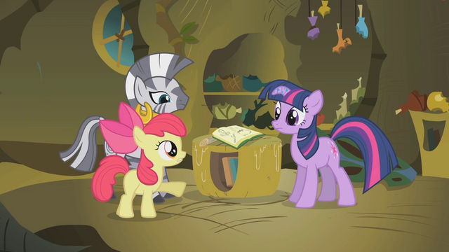 "File:Apple Bloom ""whenever Zecora comes to town"" S1E09.png"