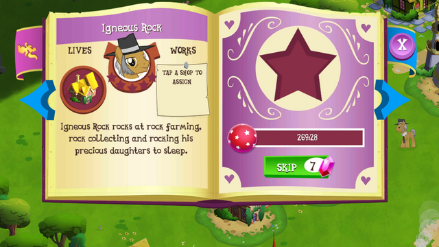 File:Igneous Rock album page MLP mobile game.png