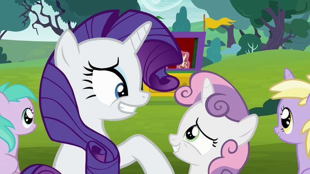 File:Rarity and Sweetie Belle grin at each other S7E6.png