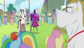 Timekeeper taking Ponyville team's photo S4E10.png