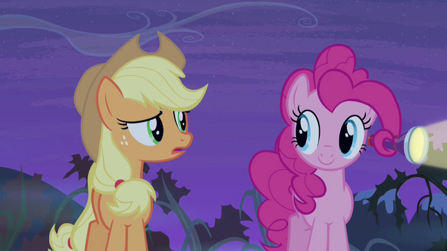 File:Applejack talking to Pinkie Pie S4E07.png