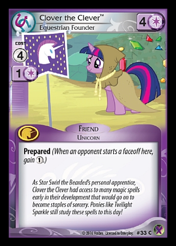 File:Clover the Clever, Equestrian Founder card MLP CCG.jpg