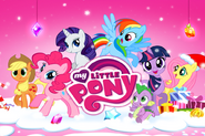 My Little Pony mobile game Christmas theme splash screen