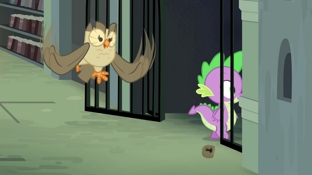 File:Owlowiscious hooting while Spike enters S4E23.png