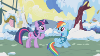 Twilight wants to help Rainbow Dash S1E11
