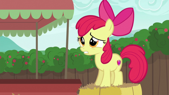 "File:Apple Bloom ""I'm an Apple, but..."" S6E14.png"