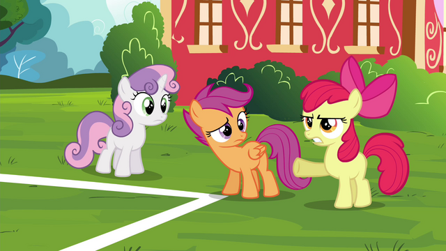 "File:Apple Bloom ""she gets so much attention without"" S4E15.png"