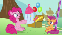 Pinkie says the balloon baby bottle is a puppy S5E19
