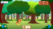Sunset Shimmer playing Apple Picking Mobile App