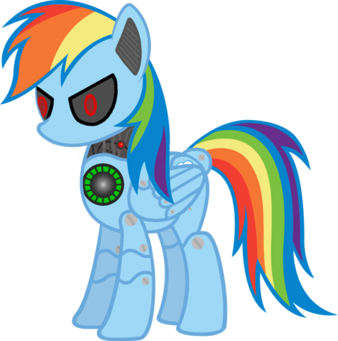 File:FANMADE Metal Rainbow Dash by jojonetwork.png