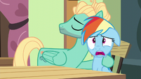 Rainbow Dash with jaw hanging open S6E11