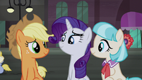 AJ, Rarity, and Coco proud S5E16