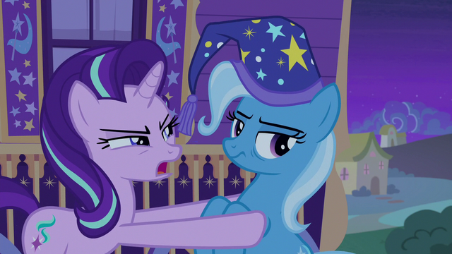 "File:Starlight Glimmer ""never tell another pony"" S6E25.png"