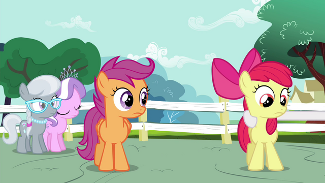 File:Apple Bloom about to be pulled by Sweetie S4E15.png