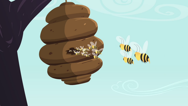 File:Bees fly back into the hive S4E16.png