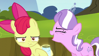 "Diamond Tiara shouting ""the worst cutie mark ever!"" S5E4"
