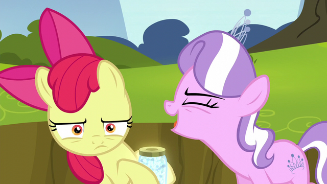 "File:Diamond Tiara shouting ""the worst cutie mark ever!"" S5E4.png"