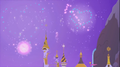 Fireworks in the night skies of Canterlot S1E26.png