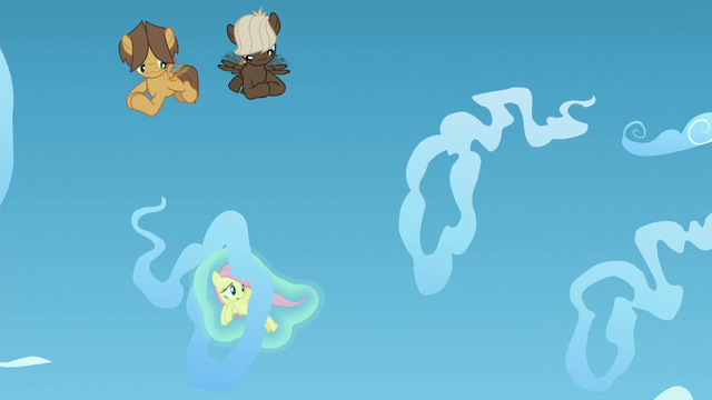 File:Fluttershy being levitated through cloud rings S5E26.png