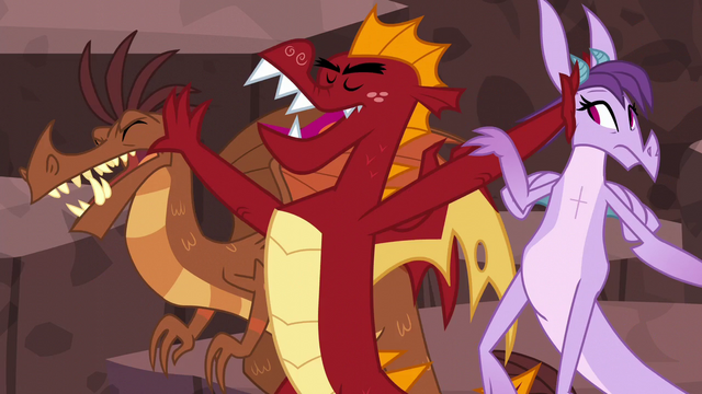 File:Garble pushing dragons aside S6E5.png