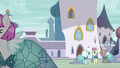 Ponies in Canterlot all wearing Princess Dresses S5E14.png