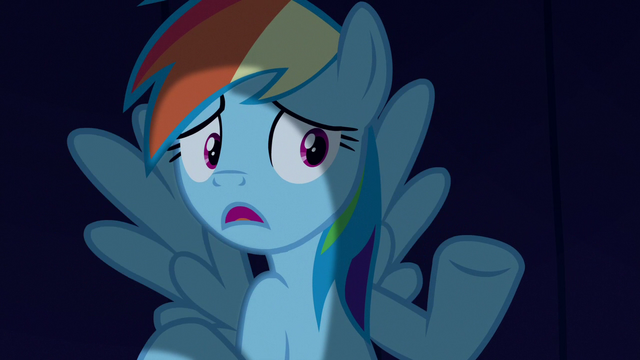 "File:Rainbow Dash ""we just hide out here until"" S6E15.png"