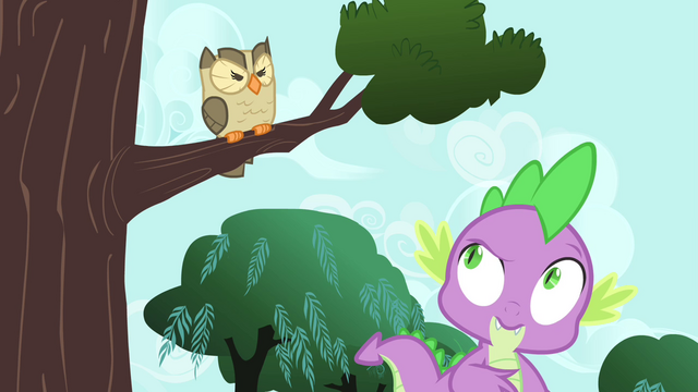 File:Spike looking up at Owlowiscious S4E23.png